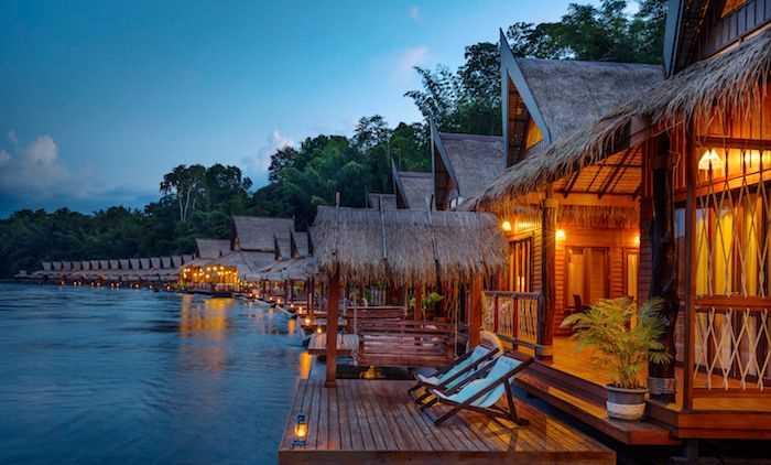 Floathouse River Kwai Hotels In Kanchanaburi Thailand