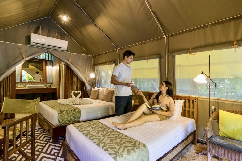tented camp hotel hintok glamping camp resort kanchanaburi river-kwai-noi hellfire-pass