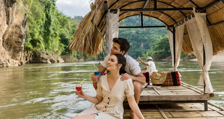bamboo raft kanchanaburi river kwai