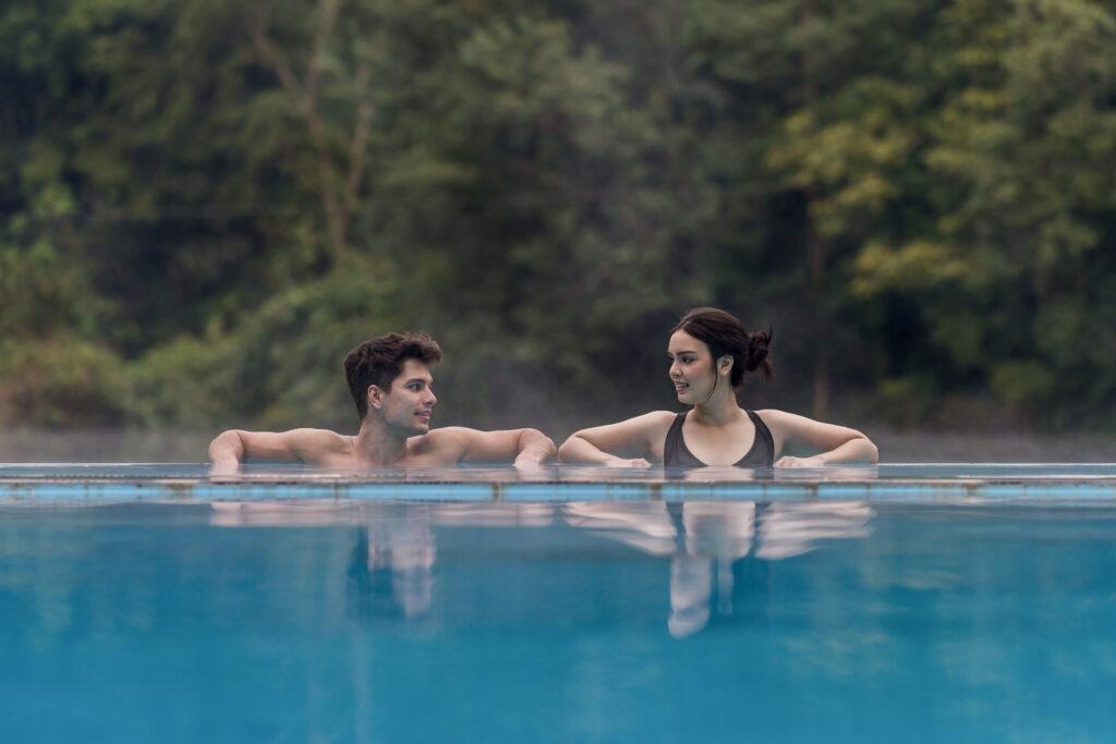 Onsen hotspring resort thailand kanchanaburi river kwai