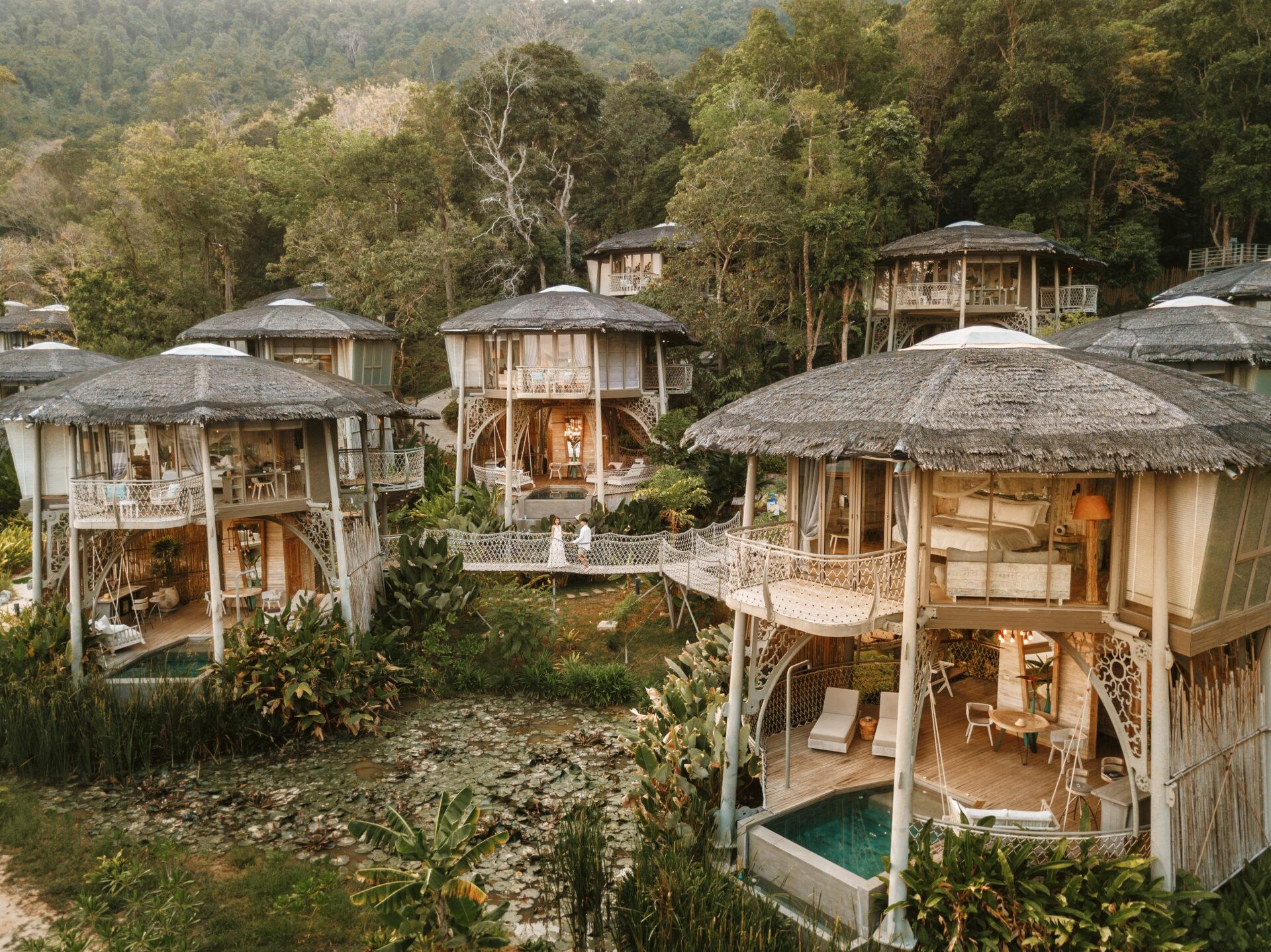 5-star luxury treehouse villa hotel resort koh yao
